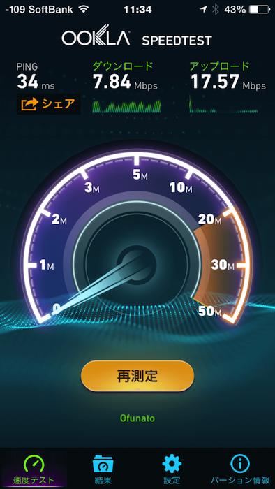 函館空港 A Springのネット速度