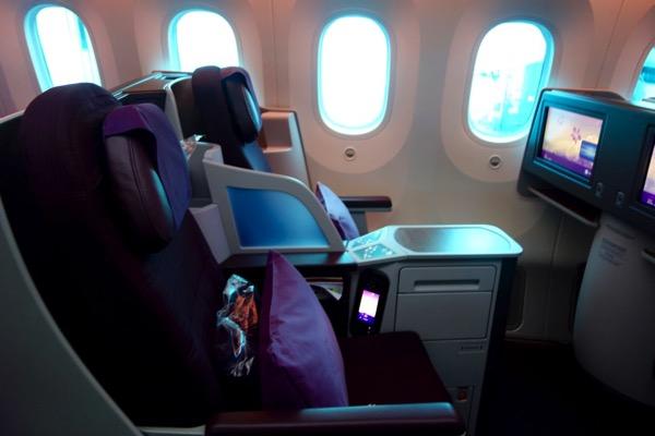 タイ航空 787 ビジネスクラス搭乗記
