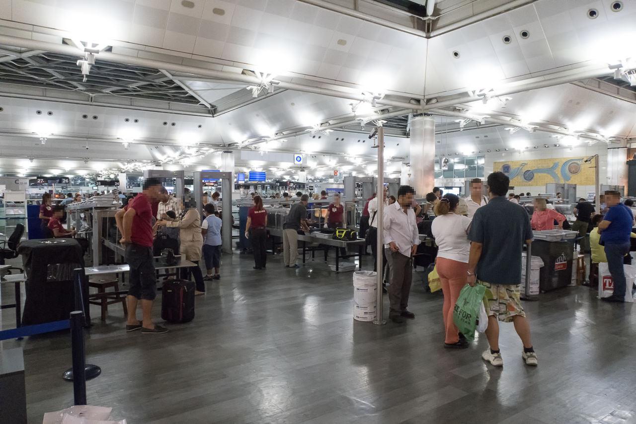 トルコ・アタテュルク国際空港の保安検査場