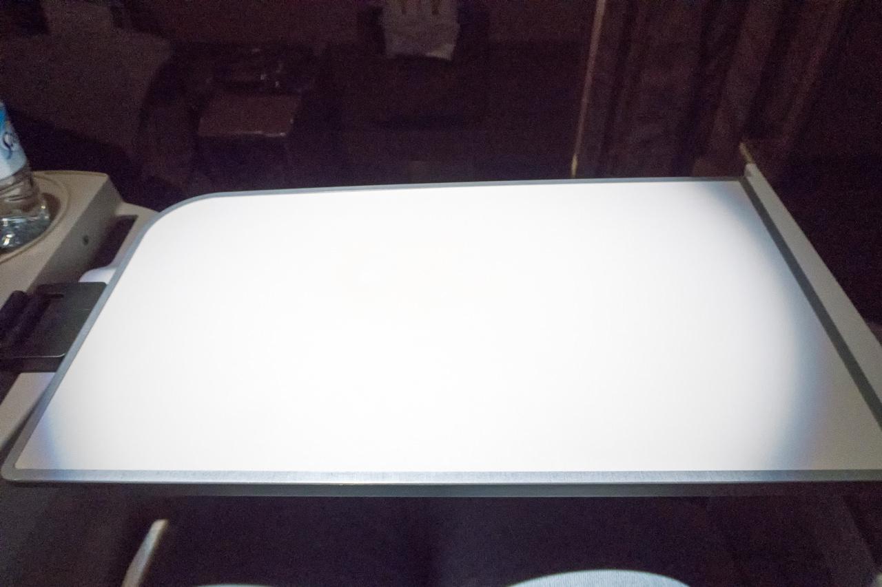 ターキッシュエアラインズのテーブル