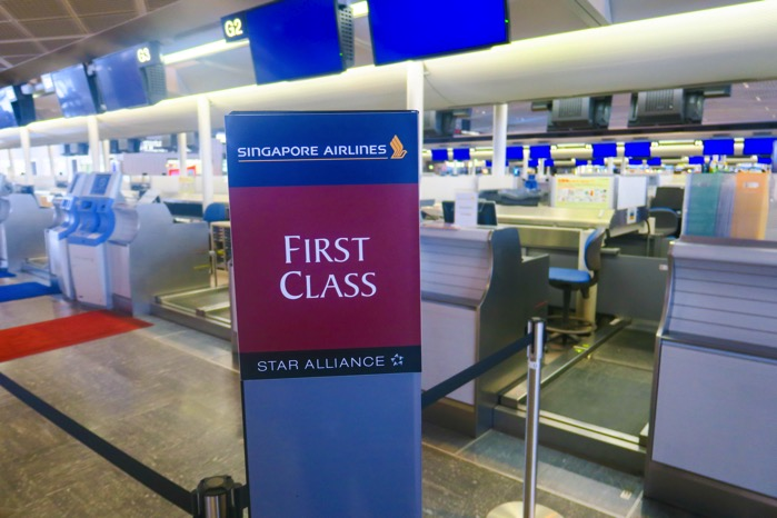 singapore airline firstcalss check in