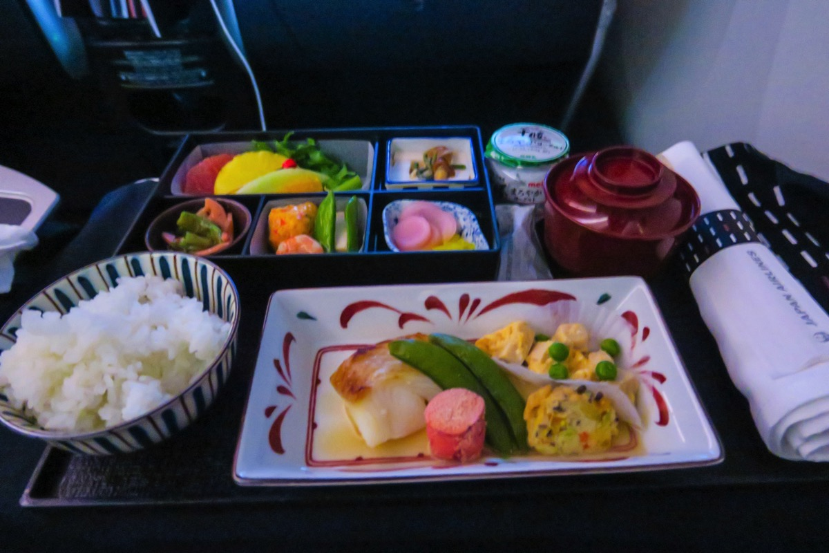 JL727便 機内食